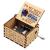 ERHETUS Gravierte hölzerne Spieluhr handgekröpfte Spieluhr für Tochter Frau Geburtstagsgeschenk für Geburtstag, Festival, Weihnachten - 1