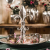 Etagere Lilie Dekoteller Dekoschale Schale - Servierplatte Groß aus Metall Aluminium - Silber Deko Luxus - Tischdeko Hochzeit - Dekoration für Wohnzimmer, Esszimmer oder Küche - 31 cm - 3
