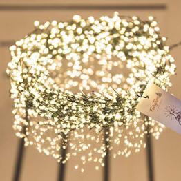 FAIRYTREES Micro LED Lichterkette für Weihnachtsbaum PREMIUM, FairySparks 1000 LEDs, Farbtemperatur 2700K (warmweiß), grüner Kupferdraht 20m (IP44), FS1000 - 1