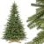 FAIRYTREES Weihnachtsbaum künstlich BAYERISCHE Tanne Premium, Material Mix aus Spritzguss & PVC, inkl. Holzständer, 220cm, FT23-220 - 1