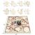 Fancylande DIY Hölzerne Christbaumschmuck, Handgemachte Holzhackschnitzelanhänger Und Weihnachtsthema, Um Eine Schöne Urlaubsatmosphäre Für Sie Zu Schaffen - 3
