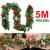 Faziango Weihnachtsgirlande 5m, Tannengirlande mit 100 LED warmweiß inkl. Deko, Künstliche Girlande Weihnachtsdeko für Weihnachten, Treppen, Kamine, Grün - 2