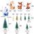 Feelava 30 Stück Weihnachten Miniatur Ornament Kits Mini Xmas Style Figuren Weihnachtsmann Weihnachtsbaum niedlichen Cartoon Xmas Decor für Home Garden Party Decor Desktop Dekoration - 2