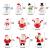 Feelava 30 Stück Weihnachten Miniatur Ornament Kits Mini Xmas Style Figuren Weihnachtsmann Weihnachtsbaum niedlichen Cartoon Xmas Decor für Home Garden Party Decor Desktop Dekoration - 3