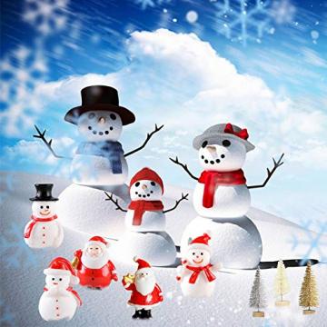 Feelava 30 Stück Weihnachten Miniatur Ornament Kits Mini Xmas Style Figuren Weihnachtsmann Weihnachtsbaum niedlichen Cartoon Xmas Decor für Home Garden Party Decor Desktop Dekoration - 7