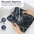 FYY 6er-Set Jacquard Stoffservietten Servietten Stoff Leinenservietten Roseus mit Damast Muster,servietten für Familienessen | Hochzeiten |Cocktail | Küche |Startseite| Erntedankfest/Weihnachten,Blau - 3