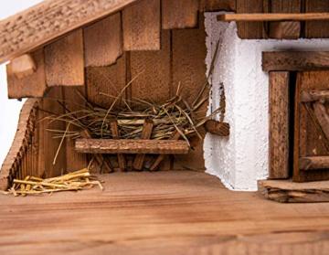 Garten und Holztrends Weihnachtskrippe Krippe Krippenstall (W016) Weihnachten Weihnachtskrippen Krippenfiguren - 3