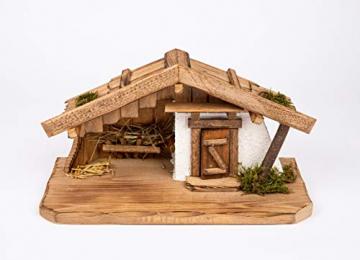 Garten und Holztrends Weihnachtskrippe Krippe Krippenstall (W016) Weihnachten Weihnachtskrippen Krippenfiguren - 1