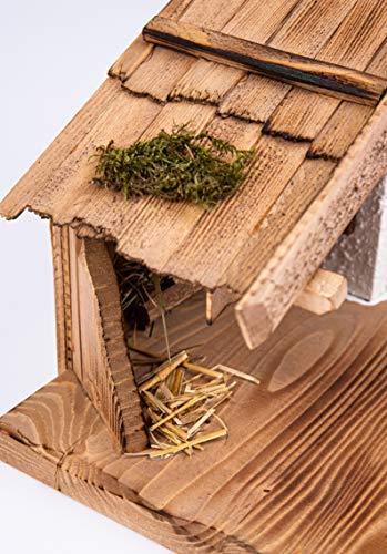 Garten und Holztrends Weihnachtskrippe Krippe Krippenstall (W016) Weihnachten Weihnachtskrippen Krippenfiguren - 5