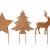 Gartenzaubereien Stern/Baum/Hirsch zum Stecken 3er Set - 1