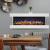 GLOW FIRE Clear 36 Elektrokamin   Wandkamin, Deko Kamin mit Multi-Color 3D-Flammeneffekt LED-Technik und Heizfunktion 1600 W   Fernbedienung, Breite 118 cm, Weiß - 2