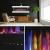 GLOW FIRE Clear 36 Elektrokamin   Wandkamin, Deko Kamin mit Multi-Color 3D-Flammeneffekt LED-Technik und Heizfunktion 1600 W   Fernbedienung, Breite 118 cm, Weiß - 3