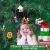 GoHist Weihnachtsanhänger Christbaum Deko, Weihnachtsverzierungen Aus, Holzanhänger Weihnachten Rot,Weihnachten Anhänger Holzanhänger,Weihnachtsbaum Deko Holz (48-teiliges) - 4