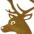 großer Metall-Hirsch im Rost-Design, für Innen + Außen geeignet, Gartendeko, Deko-Figur - 3