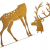 großer Metall-Hirsch im Rost-Design, für Innen + Außen geeignet, Gartendeko, Deko-Figur - 4