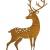großer Metall-Hirsch im Rost-Design, für Innen + Außen geeignet, Gartendeko, Deko-Figur - 1