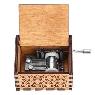 Handkurbel Musikbox Hölzerne Handkurbel Spieluhr Vintage Hand Eingraviert aus Holz Spieluhr(HP) - 1