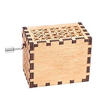 Handkurbel Musikbox Hölzerne Handkurbel Spieluhr Vintage Hand Eingraviert aus Holz Spieluhr(HP) - 10