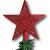 HCH Weihnachtsbaumspitze Baumspitze Christbaumspitze Baumstern Spitze Stern Baumschmuck Weihnachtsbaum-Stern Weihnachtsstern Glitzer Frost (Rot) - 2