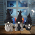 Hearthxy 3 Stück Halloween Zwerg Plüsch Puppe GNOME Figur Wichtel gesichtslose Puppe Spielzeug Weihnachtsfigur Handmade Swedish Dwarf Halloween Weihnachts Deko Urlaub Dekoration Geschenke - 4