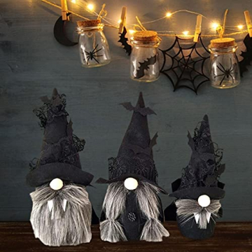 Hearthxy 3 Stück Halloween Zwerg Plüsch Puppe GNOME Figur Wichtel gesichtslose Puppe Spielzeug Weihnachtsfigur Handmade Swedish Dwarf Halloween Weihnachts Deko Urlaub Dekoration Geschenke - 8