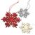 HEITMANN DECO Weihnachtsdeko aus Holz - Schneeflocken zum Aufhängen - Weihnachtsbaum Deko Weihnachtsdekoration - 24-TLG. Rot, Grau, Natur - 2
