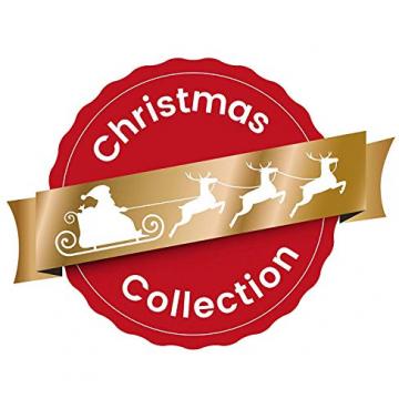 HEITMANN DECO Weihnachtsdeko aus Holz - Schneeflocken zum Aufhängen - Weihnachtsbaum Deko Weihnachtsdekoration - 24-TLG. Rot, Grau, Natur - 5