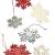 HEITMANN DECO Weihnachtsdeko aus Holz - Schneeflocken zum Aufhängen - Weihnachtsbaum Deko Weihnachtsdekoration - 24-TLG. Rot, Grau, Natur - 1