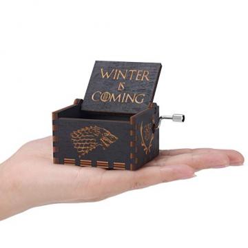 HLZK Spiel der Throne hölzerne Spieluhr, antike Geschnitzte hölzerne Handkurbel-Spieluhren Geburtstags-Weihnachten - 6
