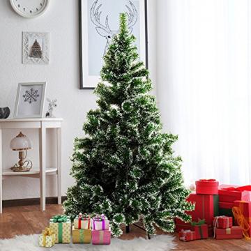 HOMCOM Künstlicher Weihnachtsbaum 1,5 m Christbaum Tannenbaum 416 Äste Metallfuß PET Grün - 3