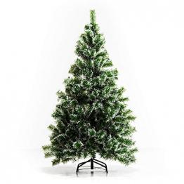 HOMCOM Künstlicher Weihnachtsbaum 1,5 m Christbaum Tannenbaum 416 Äste Metallfuß PET Grün - 1