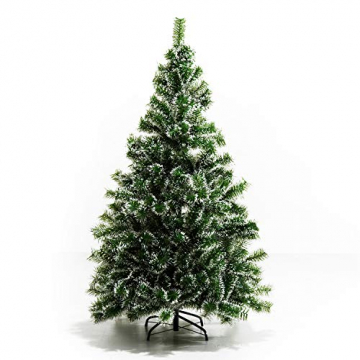 HOMCOM Künstlicher Weihnachtsbaum 1,5 m Christbaum Tannenbaum 416 Äste Metallfuß PET Grün - 5