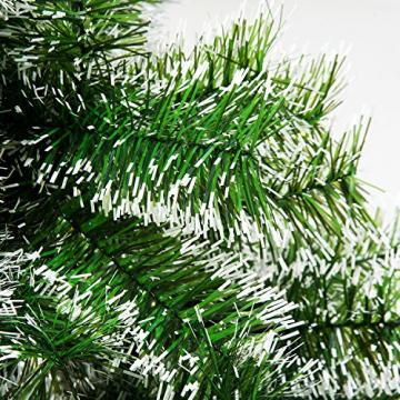 HOMCOM Künstlicher Weihnachtsbaum 1,5 m Christbaum Tannenbaum 416 Äste Metallfuß PET Grün - 8