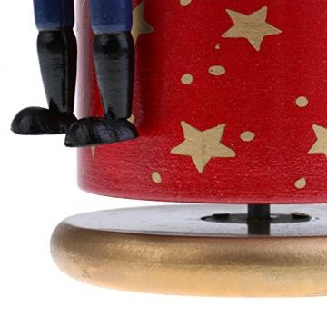 Homyl Weihnachten Nutcracker Soldaten Figuren Spieluhr Spieldose mit Uhrwerk Rote Basis - 9