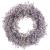HUAESIN Künstliche Gypsophila Blumenkranz Deko Türkranz Künstliche Hängen Kranz Eukalyptus Dekokranz Lila für Tür Hochzeit Fenster Kamin Wand Outdoor Ganzjährig Deko 46cm - 1