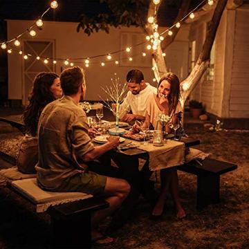 Hypestar Dekoratives Lichterbaum | Leuchtbaum mit 24 Warmweißer LEDs Licht | 45cm Lichterzweige für Tischdekoration | Zeitschaltuhr USB und Batterien | Weihnachten Ostern Party Innendeko (24led Weiß) - 6
