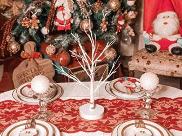 Hypestar Dekoratives Lichterbaum | Leuchtbaum mit 24 Warmweißer LEDs Licht | 45cm Lichterzweige für Tischdekoration | Zeitschaltuhr USB und Batterien | Weihnachten Ostern Party Innendeko (24led Weiß) - 7