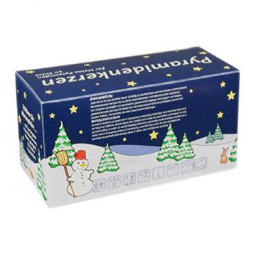 JEKA Pyramidenkerzen klein, rot ca. 14 x 74 mm 50 Stück/Pack, Weihnachtskerzen, Adventskerzen, Christbaumkerzen, Baumkerzen, Kerzen - 2