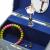 Jewelkeeper - Spieluhr Schmuckkästchen für Mädchen mit drehender Fee und Stern Design in Blau und Weiß - Schwanensee Melodie - 3