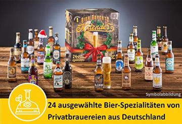 KALEA Bier-Adventskalender, 24 x 0,33 L Bierspezialitäten von Privatbrauereien aus Deutschland und 1 Verkostungsglas, neue Bestückung 2021, Biergeschenk zur Vorweihnachtszeit für alle Bierliebhaber - 5