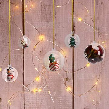 KATELUO 15 Stücke Klar Weihnachtskugeln, Plastik-Kugeln, Füllbare Weihnachtsplastikkugeln,fürBefüllen und Dekorieren Christbaumschmuck, Tischdekoration, Weihnachtssouvenirs - 4