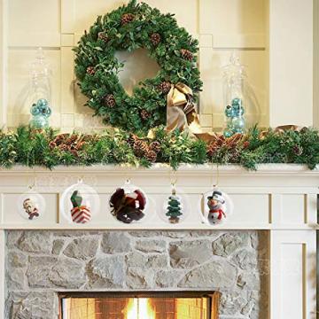 KATELUO 15 Stücke Klar Weihnachtskugeln, Plastik-Kugeln, Füllbare Weihnachtsplastikkugeln,fürBefüllen und Dekorieren Christbaumschmuck, Tischdekoration, Weihnachtssouvenirs - 5