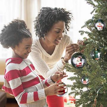 KATELUO 15 Stücke Klar Weihnachtskugeln, Plastik-Kugeln, Füllbare Weihnachtsplastikkugeln,fürBefüllen und Dekorieren Christbaumschmuck, Tischdekoration, Weihnachtssouvenirs - 6