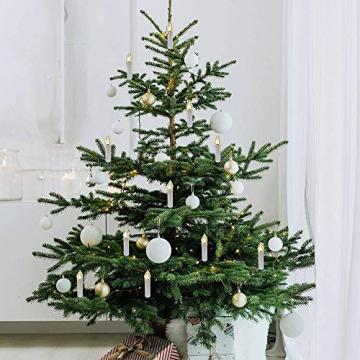 Kerzen Lichterkette, THOWALL 15.5M 50er LED Weihnachtsbaum Lichterkette mit Klemmen, Flammenloses LED Kerzen Dekoration für Weihnachtsbaum, Weihnachtsdeko, Hochzeit, Geburtstags, Party, Warmweiß - 6