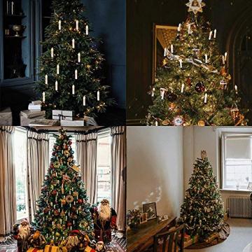 Kerzen Lichterkette, THOWALL 15.5M 50er LED Weihnachtsbaum Lichterkette mit Klemmen, Flammenloses LED Kerzen Dekoration für Weihnachtsbaum, Weihnachtsdeko, Hochzeit, Geburtstags, Party, Warmweiß - 7