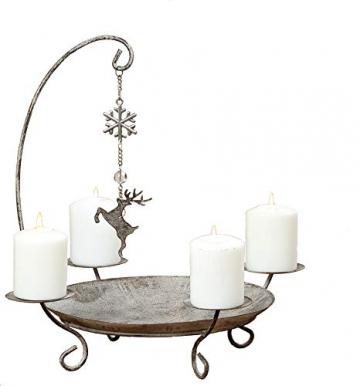 Kerzenständer Kerzenleuchter Belluno Metall Advent Tischdeko Leuchter Hirsch oder Baummotiv Stückpreis - 2