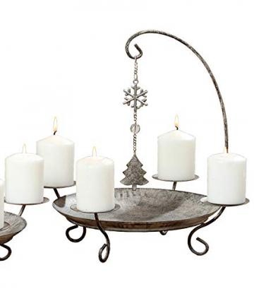 Kerzenständer Kerzenleuchter Belluno Metall Advent Tischdeko Leuchter Hirsch oder Baummotiv Stückpreis - 3