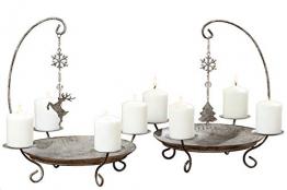Kerzenständer Kerzenleuchter Belluno Metall Advent Tischdeko Leuchter Hirsch oder Baummotiv Stückpreis - 1