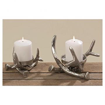Kerzenständer Kerzenleuchter Metall Geweih Advent Tischdeko Leuchter - 2