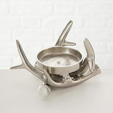 Kerzenständer Kerzenleuchter Metall Geweih Advent Tischdeko Leuchter - 6